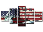 Viisiosainen seinätaulu USA ED-65538