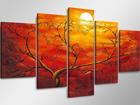 Viieosaline seinapilt Päikeseloojang