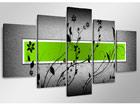 Viieosaline seinapilt Grün