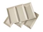 Valkoinen lautanen CLASSIC 28,5x15,5 cm
