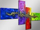 Neljaosaline seinapilt Draakon