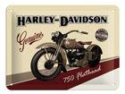 Retro metallposter Harley-Davidson 750 Flathead 15x20cm SG-68145