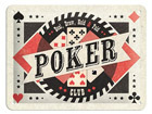 Retro metallijuliste Poker Club 15x20 cm SG-68151