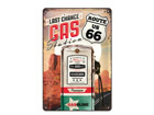 Retrotyylinen metallijuliste ROUTE 66 LAST CHANCE GA STATION 20x30 cm SG-68156