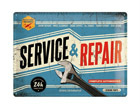 Retrotyylinen metallijuliste SERVICE & REPAIR 30x40 cm SG-68165