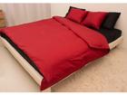 Satiini pussilakanasetti RED-BLACK 240x210 cm