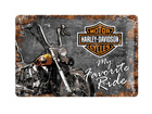 Retrotyylinen metallijuliste HARLEY-DAVIDSON MY FAVORITE RIDE 20x30 cm SG-70330