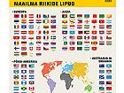 Plakat maailma riikide lipud RQ-71933