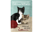 Retro metallijuliste Cats and Kittens 20x30 cm SG-73492