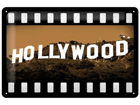 Retro metallposter Hollywood 20x30cm SG-73496