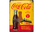 Retro metallijuliste Coca-Cola in bottles 30x40cm SG-73499
