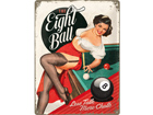 Retrometallijuliste The Eight Ball 30x40cm SG-73500