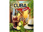 Металлический постер в ретро-стиле Cuba Libre 30x40cm SG-73501