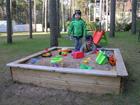 Песочница с покрытием 120x120 см