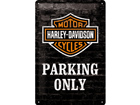 Retrometallijuliste Harley-Davidson Parking only 20x30 cm SG-74246