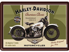 Металлический постер в ретро-стиле Harley-Davidson Knucklehead 15x20 см SG-74261