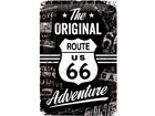 Retro metallijuliste Route 66 The Original Adventure 20x30 cm SG-74267