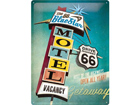 Retro metallijuliste The 66 Blue Star Motel 30x40 cm SG-74269