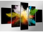 Viieosaline seinapilt Värvid 200x100 cm