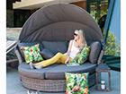 Раздвижной садовый диван Muse-2 с навесом EV-75472