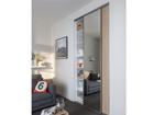 Двери-купе Prestige, 1 зеркало и 1 меламиновая дверь 100x250 cm