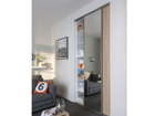 Двери-купе Prestige, 1 зеркало и 1 меламиновая дверь 180x250 cm