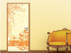 Fototapeet Grunge Orange Scroll 100x210cm