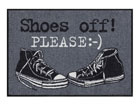 Ковер Shoes off Please 50x75 cm