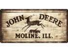 Металлический постер в ретро-стиле John Deere 25x50cm SG-78372