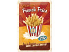 Retro metallijuliste FRENCH FRIES 20x30 cm SG-78387