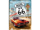 Retro metallijuliste ROUTE 66 GAS UP 30x40 cm SG-78394