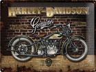 Retro metallposter Harley-Davidson Genuine 30x40cm SG-78395