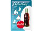 Металлический постер в ретро-стиле Coca-Cola Refreshing Парусник 20x30cm SG-78401