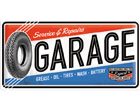 Retro metallijuliste SERVICE & REPAIR GARAGE 25x50 cm SG-78404
