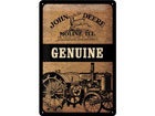 Retro metallijuliste JOHN DEERE GENUINE 20x30 cm SG-78429