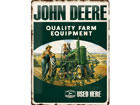 Retro metallijuliste John Deere Quality Farm Equipment 30x40 cm SG-78432