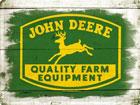 Металлический постер в ретро-стиле John Deere Quality Farm Equipment logo 30x40cm SG-78435