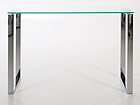 Klaasist laud Katrine 110x40 cm