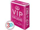 Peltipurkki 3D VIP ONLY PINK 4 L SG-80667
