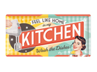 Retro metallijuliste Feel like home in my kitchen... 25x50 cm SG-82047