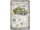 Металлический календарь в ретро-стиле Le Jardin Francais 20x30cm SG-82351