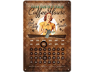 Retro metallkalender Coffee House 20x30cm SG-82358