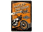 Металлический постер в ретро-стиле Harley-Davidson The Original Ride 20x30 cm SG-84334