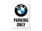 Retro metallposter BMW Parking only 20x30 cm SG-84339
