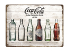 Металлический постер в ретро-стиле Coca-Cola pudelid ajalugu 30x40 cm SG-84344
