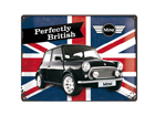 Retro metallposter Mini Perfectly British 30x40 cm SG-84356