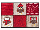 Vaip Winter Owls Red 50x75 cm A5-84594