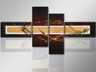 Neliosainen öljymaalaus TAITO 195x80 cm