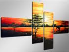 Neliosainen seinätaulu AFRIKKA 160x70 cm