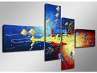 Neljaosaline seinapilt Optik 160x70 cm